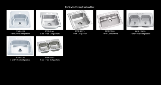 ProFlow Self-Rimming Stainless Steel